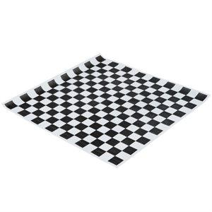 Checkered Basket Liner Noir 12''x12'' (2000 / cs)