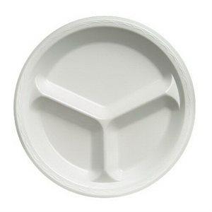 "Foam Plate 10 1 / 4"" 3 Compartments (500 / cs)"