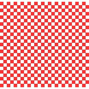 Checkered Basket Liner Red 12''x12'' (2000 / cs)