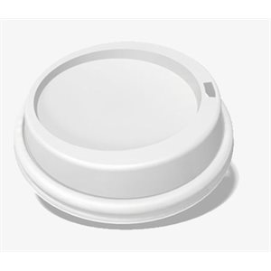 Plastic Dom Lid White For Pap. Hot Cup 8 Oz (1000 / cs)